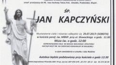 Zmarł Jan Kapczyński. Żył 94 lata.