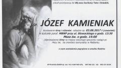 Zmarł Józef Kamieniak. Żył 88 lat.