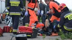 Cyganka, motocykl zderzył się z samochodem, motocyklista poszkodowany - 05.08.2017