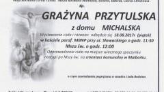 Zmarła Grażyna Przytulska. Żyła 62 lat.