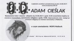Zmarł Adam Cieślak. Żył 52 lat.