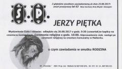 Zmarł Jerzy Piętka. Żył 63 lata.