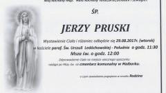 Zmarł Jerzy Pruski. Żył 69 lat.