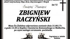 Zmarł Zbigniew Raczyński. Żył 72 lat.