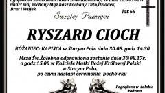 Zmarł Ryszard Cioch. Żył 65 lat.
