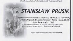 Zmarł Stanisław Prusik. Żył 88 lat.
