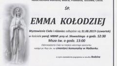 Zmarła Emma Kołodziej. Żyła 89 lat.