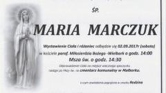 Zmarła Maria Marczuk. Żyła 91 lat