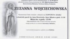 Zmarła Zuzanna Wojciechowska. Żyła 82 lat.