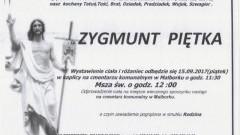 Zmarł Zygmunt Piętka. Żył 79 lat
