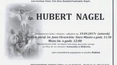 Zmarł Hubert Nagel. Żył 77 lat.