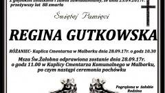 Zmarła Regina Gutkowska. Żyła 88 lat