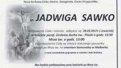 Zmarła Jadwiga Sawko. Żyła 70 lat