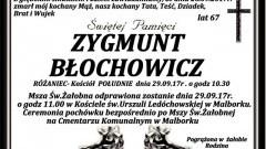 Zmarł Zygmunt Błochowicz. Żył 67 lat.