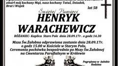 Zmarł Henryk Warachewicz. Żył 58 lat