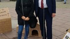 """"""" Zerwijmy Łańcuchy"""", czyli protest przeciwko stałemu wiązaniu psów na łańcuchach w Malborku - 07.10.2017"""