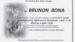 Zmarł Brunon Bona. Żył 74 lat.
