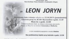Zmarł Leon Joryn. Żył 92 lat.