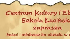 Malbork : Centrum Kultury i Edukacji Szkoła Łacińska zaprasza na zajęcia ! - 23.10.2017