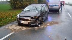O włos od tragedii. Jedna osoba w szpitalu po zderzeniu w Kończewicach - 25.10.2017