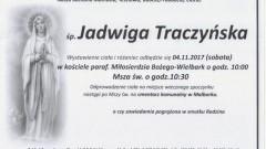 Zmarła Jadwiga Traczyńska. Żyła 87 lat.