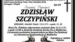 Zmarł Zdzisław Szczypiński. Żył 69 lat.