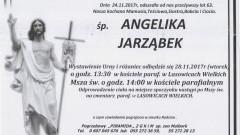 Zmarła Angelika Jarząbek. Żyła 63 lata.