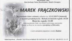 Zmarł Marek Frączkowski. Żył 69 lat.