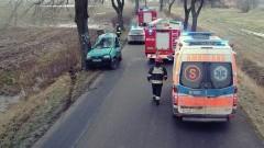 Śmiertelny wypadek w Złotowie. Samochód uderzył w drzewo, zginął pasażer. Weekendowy raport malborskich służb mundurowych – 18.12.2017