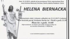 Zmarła Helena Biernacka. Żyła 74 lata.