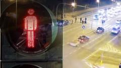 Malbork: Pijany mężczyzna potrącony na pasach. Nagranie ku przestrodze – 26.12.2017