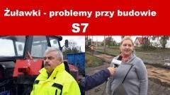 Żuławki - stanowisko firmy Metrostav, blokada pana Zbigniewa. - 27.12.2017
