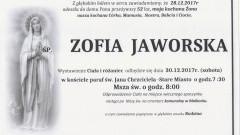 Zmarła Zofia Jaworska. Żyła 52 lat