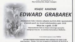 Zmarł Edward Grabarek. Żył 71 lat.
