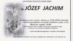 Zmarł Józef Jachim. Żył 81 lat.