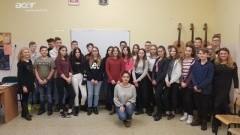 Wolontariusze z programu Erasmus Plus w Szkole Podstawowej nr 1 w Malborku - 24.01.2018