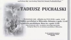 Zmarł Tadeusz Puchalski. Żył 91 lat.