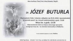 Zmarł Józef Buturla. Żył 80 lat.