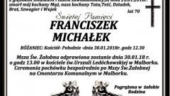 Zmarł Franciszek Michałek. Żył 70 lat.