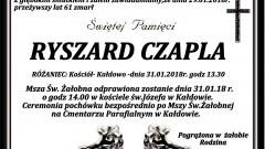 Zmarł Ryszard Czapla. Żył 61 lat.