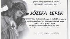 Zmarła Józefa Łepek. Żyła 82 lata.
