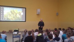 Spotkanie z policjantką w malborskiej Szkole Podstawowej nr 3 - 22.01.2018