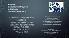 Zapraszamy do udziału w rozgrywkach Futsal Cup 2018 w Malborku - 10.03.2018