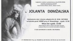 Zmarła Jolanta Domżalska. Żyła 67 lat.