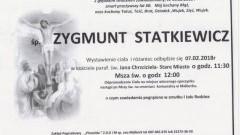 Zmarł Zygmunt Statkiewicz. Żył 60 lat.