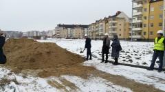 Małgorzata Ostrowska-prezes MTBS, przekazała plac budowy IPB na budowę 15 bloku - 12.02.2018