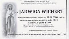 Zmarła Jadwiga Wichert. Żyła 63 lat.
