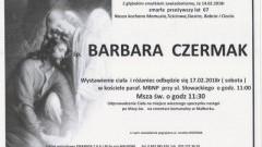 Zmarła Barbara Czermak. Żyła 67 lat