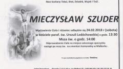 Zmarł Mieczysław Szuder. Żył 60 lat.