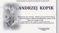 Zmarł Andrzej Kopik. Żył 74 lat.